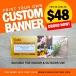 Singapore's Cheapest Custom Banner at S$48