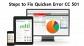 How to get Quicken error cc-501 resolved?